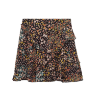 Alix The Label Alix the label Ditsy lightning skirt black multicolor