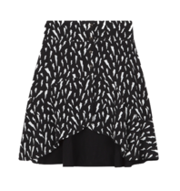 Alix The Label Alix The Label Sketchy Lighting skirt black