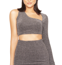 La Sisters La Sisters Glitter cut out two piece silver
