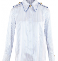 Elisabetta Franchi Elisabetta Franchi blouse met strepenprint donkerblauw wit