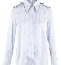 Elisabetta Franchi Elisabetta Franchi Bluse mit Streifenprint dunkelblau weiß