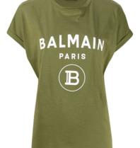 Balmain Balmain T-Shirt mit Logoprint grün