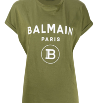 Balmain Balmain T-shirt with logo print green