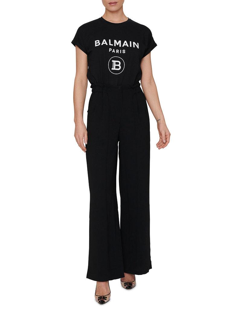 Balmain Balmain T-shirt met logoprint zwart