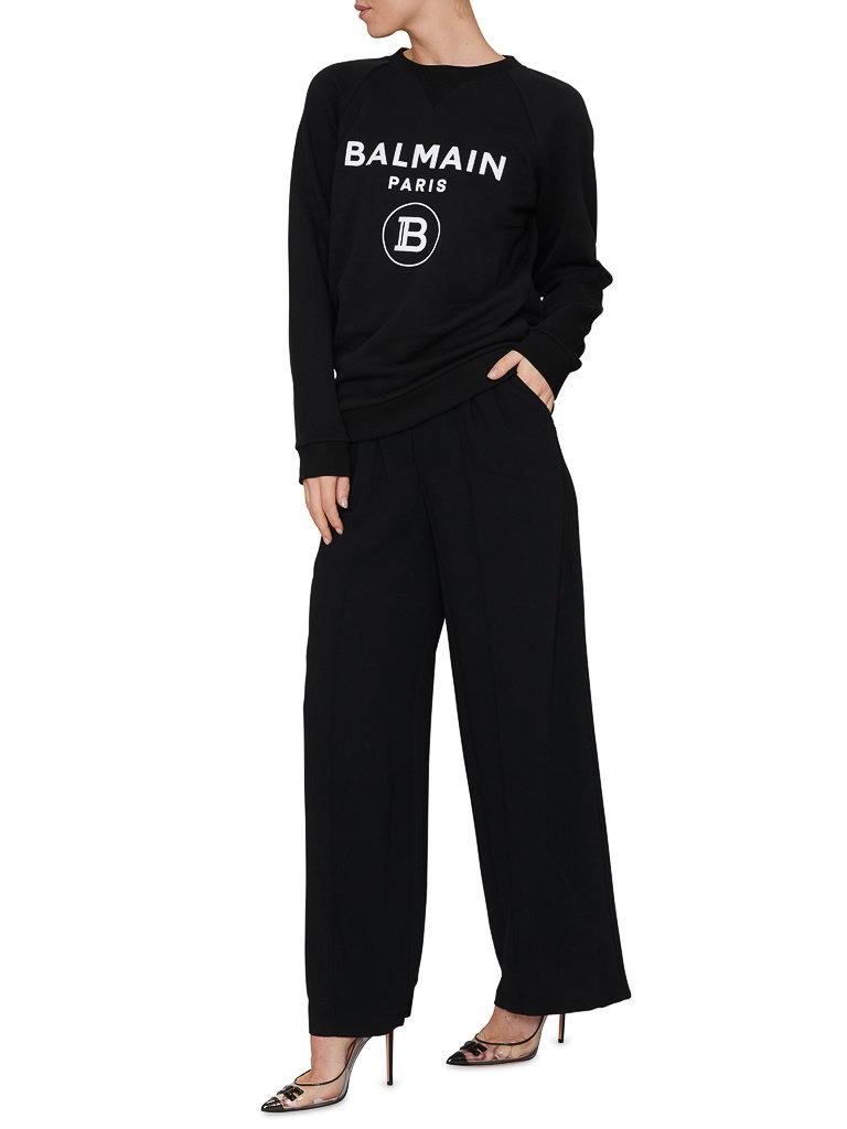 Balmain Balmain Sweater mit Logoprint schwarz
