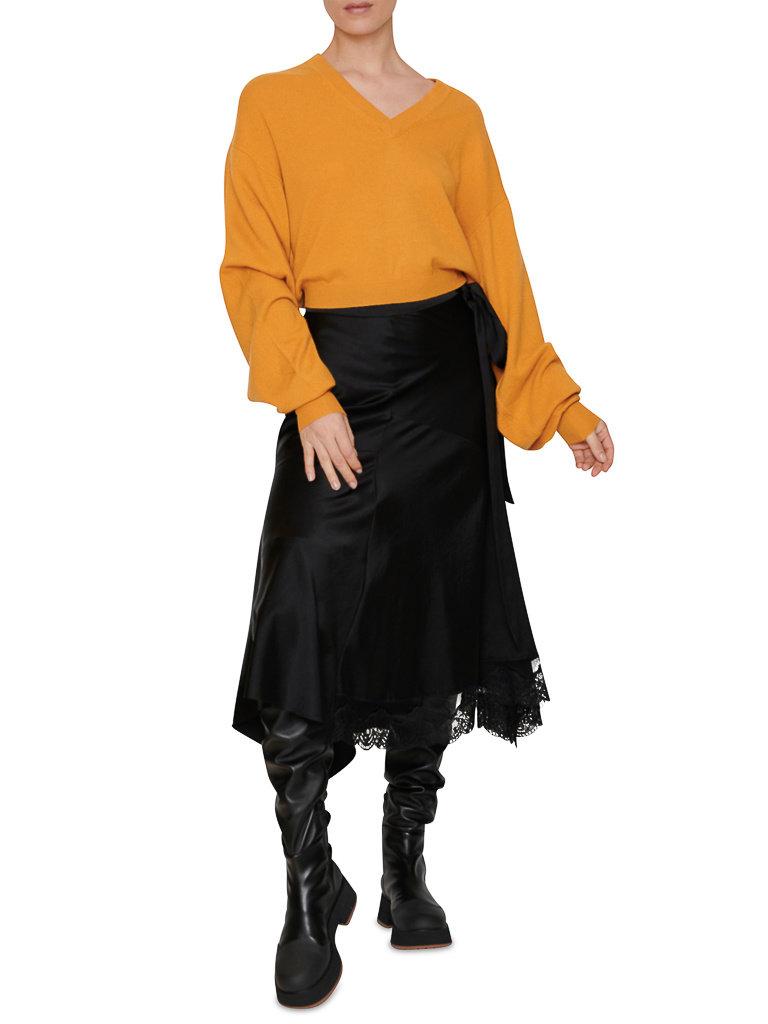 LOULOU STUDIO LOULOU STUDIO Fangatau oversized cashmere sweater safran