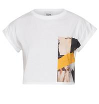 Erika Cavallini Erika Cavallini cropped t-shirt with print white