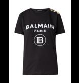 Balmain Balmain T-shirt with velvet logo black gold