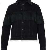 Alix The Label Alix The Label Denim jas met franjes zwart