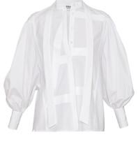 Erika Cavallini Erika Cavallini blouse met strik en detail wit