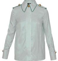 Elisabetta Franchi Elisabetta Franchi blouse met strepenprint groen wit