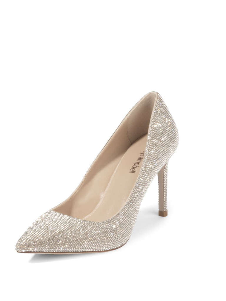 Jeffrey Campbell Pelara pumps with strass nude