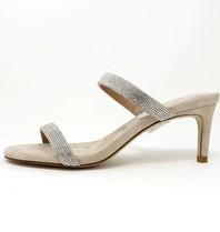 Jeffrey Campbell Royal Heeled sandal met strass nude