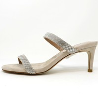 Jeffrey Campbell Royal Heeled sandal with strass nude