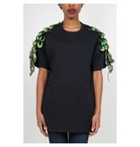 Ragyard Peacock Ärmel T-Shirt schwarz