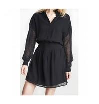 Alix The Label Alix The Label Dot chiffon blouse met print zwart