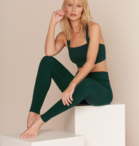 Lune Active Lune Active Luna rib legging forest groen