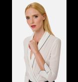 Elisabetta Franchi Elisabetta Franchi wrap body with piping white