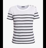 Balmain Balmain T-shirt striped black white
