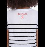 Balmain Balmain T-shirt gestreept zwart wit