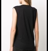 Balmain Sleeveless top with glitter black logo