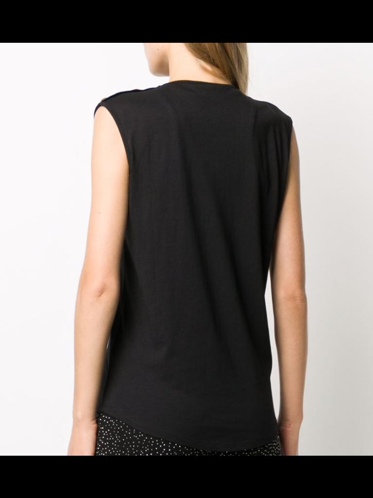 Balmain Balmain Sleeveless top with glitter black logo