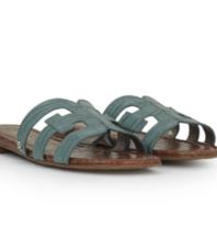 Sam Edelman Bay croco slipper blue