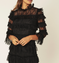 BY MALINA By Malina Carmine jurk zwart
