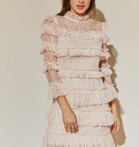 BY MALINA By Malina Carmine jurk roze