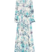 BY MALINA By Malina Adriana maxi jurk met print blauw