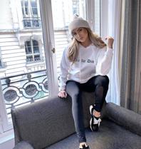 FALLON Amsterdam Die For Dior sweater white