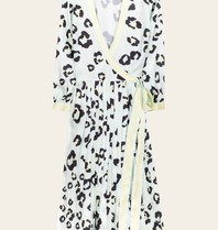 BY MALINA By Malina Noelia midi jurk met luipaardprint blauw