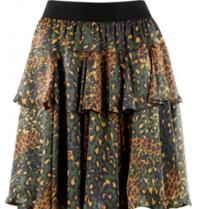 Silvian Heach Silvian Heach Zuar skirt with leopard print multicolor