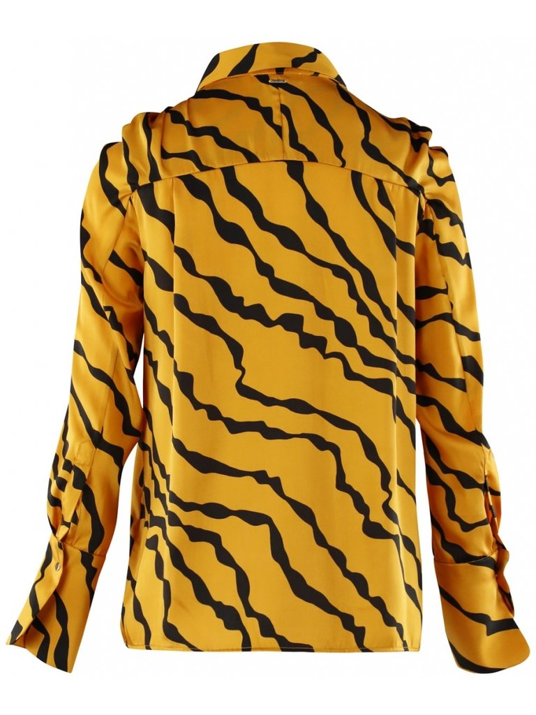 Silvian Heach Silvian Heach Pangma Bluse mit Tiger Print Orange
