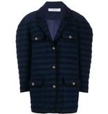 Philosophy Di Lorenzo Serafini Philosophy Di Lorenzo Serafini oversized jas met stepenprint blauw