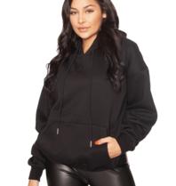 La Sisters LA Sisters Mini logo oversized hoodie zwart
