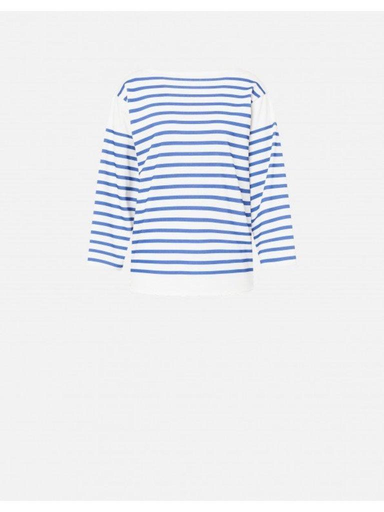 Philosophy Di Lorenzo Serafini Philosophy Di Lorenzo Serafini top with stripes print blue white