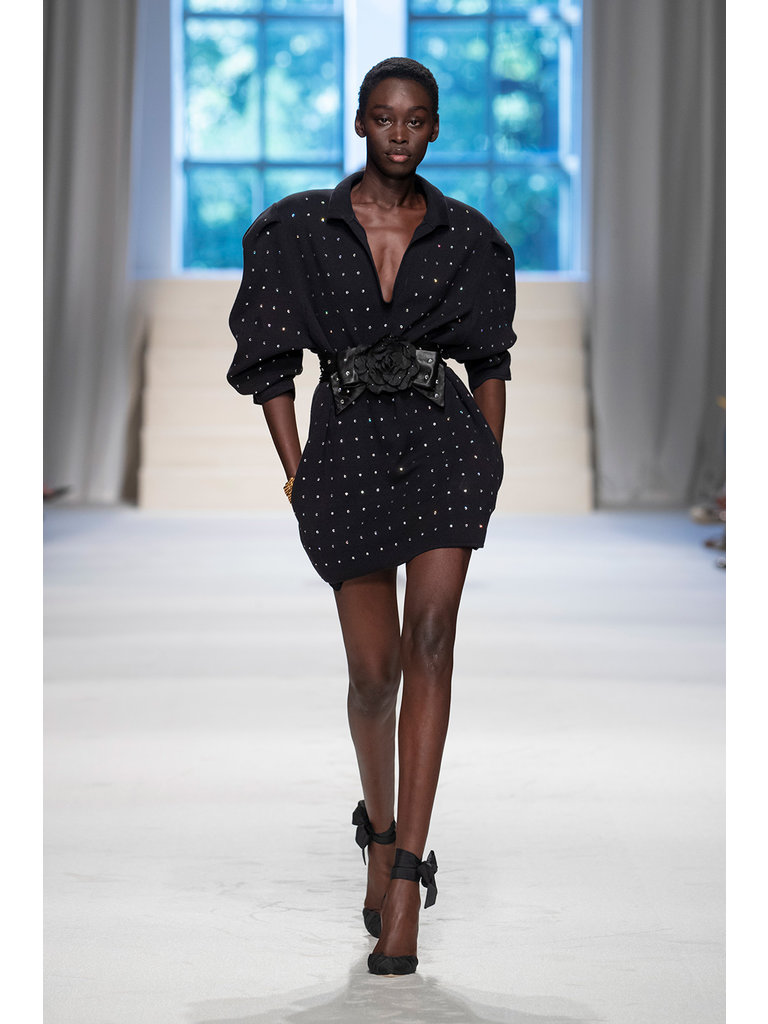 Philosophy Di Lorenzo Serafini Philosophy Di Lorenzo Serafini jurk v-hals en strass steentjes zwart