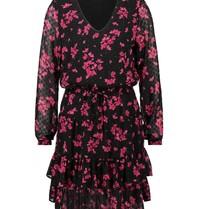Freebird Freebird Georgia jurk met bloemenprint roze zwart