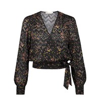 Freebird Freebird April blouse met bloemenprint zwart