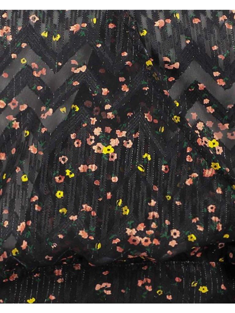 Freebird Freebird April Bluse mit Blumendruck schwarz