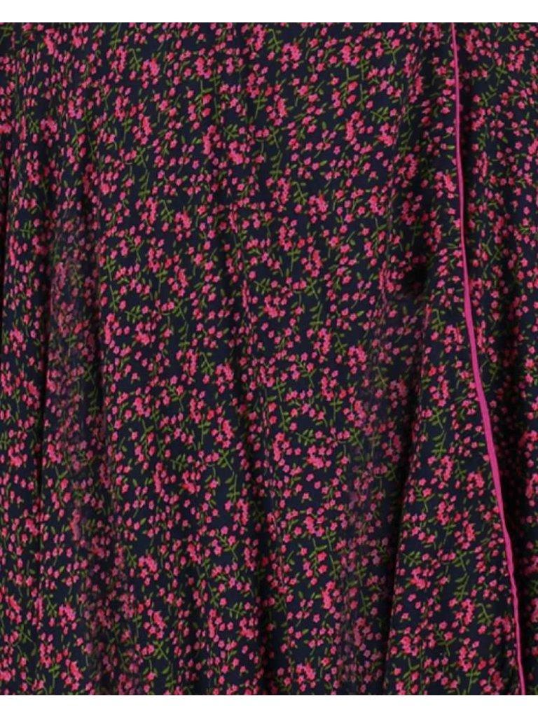 Freebird Freebird Belia maxi jurk met bloemenprint roze