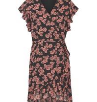 Freebird Freebird Rosy jurk met bloemenprint roze zwart