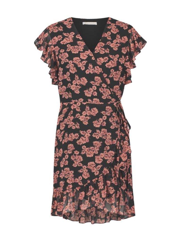 Freebird Freebird Rosy dress with floral print pink black