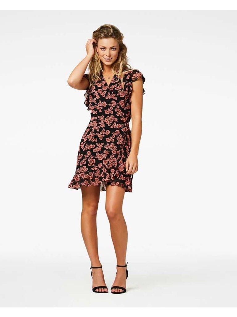 Freebird Freebird Rosy Kleid mit Blumendruck rosa schwarz