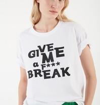 Valentine Gauthier Valentine Gauthier Harris break t-shirt met opdruk wit