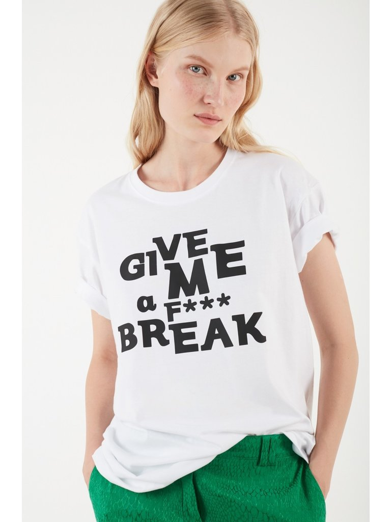Valentine Gauthier Valentine Gauthier Harris break t-shirt with print white