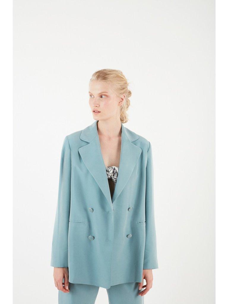 Valentine Gauthier Valentine Gauthier Morisson double-breasted blazer lichtblauw