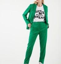 Valentine Gauthier Valentine Gauthier Emi Jan blazer with print green