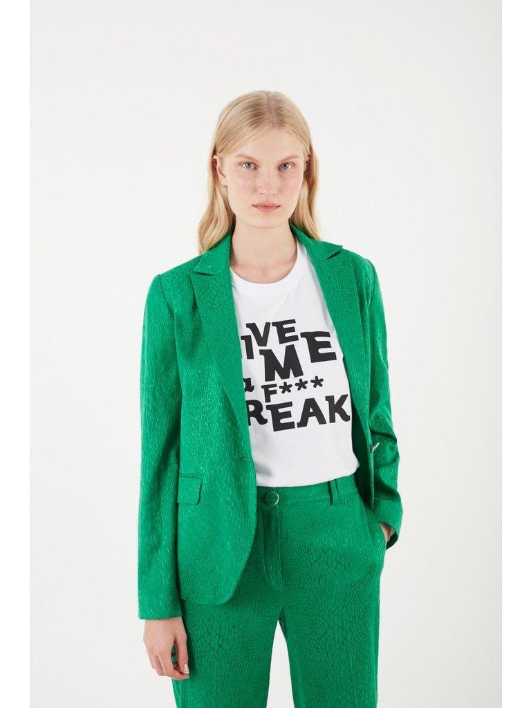 Valentine Gauthier Valentine Gauthier Emi Jan blazer met print groen